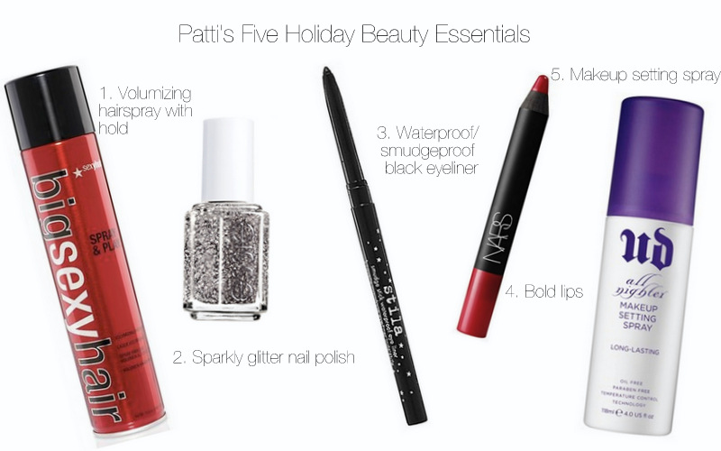 Patti's Five Holiday Beauty Essentials